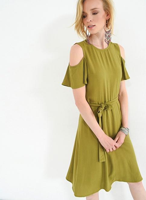 People By Fabrika Kol Detaylı Elbise Yeşil